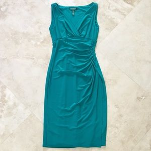 STUNNING RALPH LAUREN RUCHED JERSEY DRESS